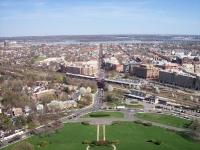 Вид Александрии с высоты масонского мемориала Дж. Вашингтона