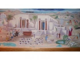 Деталь настенной росписи