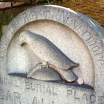 12. Ворон на надгробном памятнике